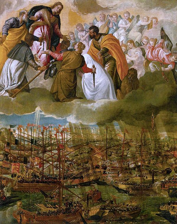ヴェロネーゼ『レパントの海戦』1572年頃ヴェネツィア・アカデミア美術館